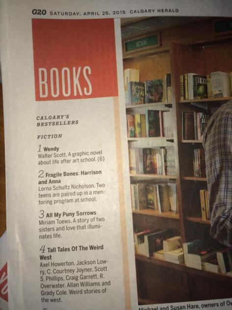 Calgary Bestsellers 4_25_2015
